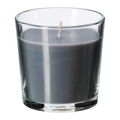 SINNLIG Scented candle in glass, Calming spa, gray - Ikea
