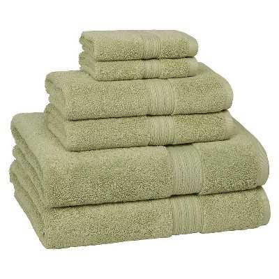 KassaDesign 6-pc. Towel Set - Celery - Target