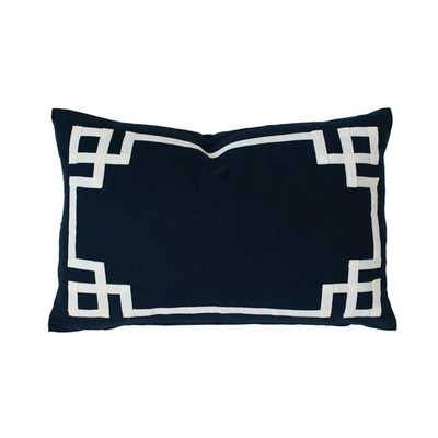 """NAVY DECO LUMBAR PILLOW - 14"""" x 20"""" - Insert not included - Project nursery"""