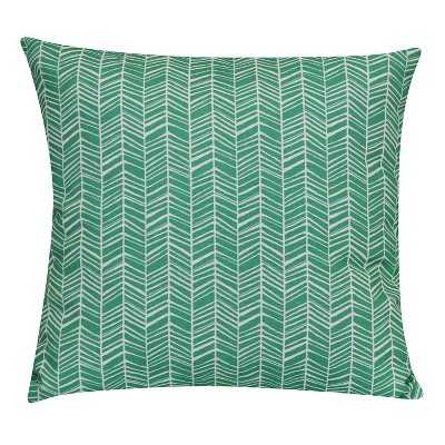 Outdoor Pillow - Teal Herringbone - 15sq. - Polyester fill - Target