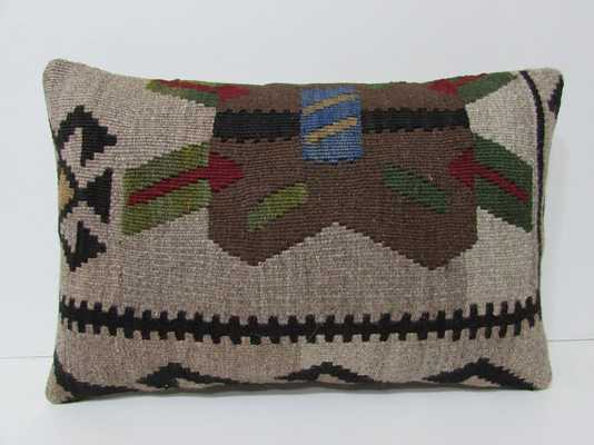 16x24 brown kilim pillow - insert sold separately - Etsy