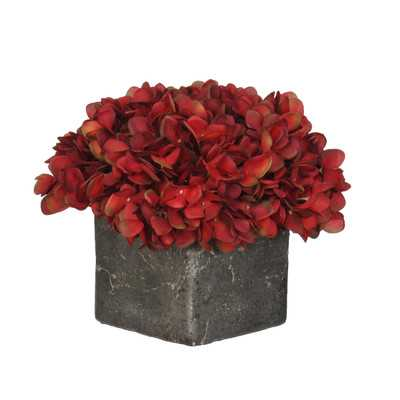 Artificial Fresh Hydrangea in Cube Pot- Small - Wayfair