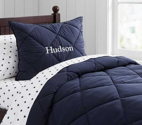 Cozy Quilt, Twin, Navy - Pottery Barn Kids