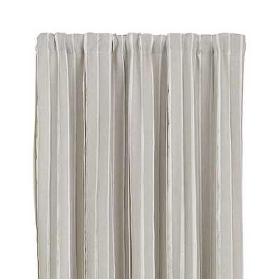 "Kendal Natural 50""x108"" Curtain Panel - Crate and Barrel"