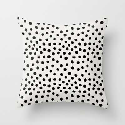 "Preppy brushstroke animal spots Pillow - 16"" x 16"" - with insert - Society6"