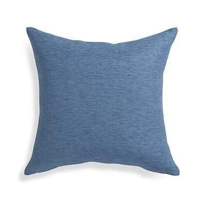 Linden Indigo Blue  Pillow - Crate and Barrel