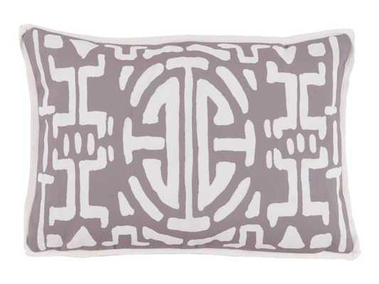 Kyoto Taupe Outdoor Lumbar Pillow - Domino