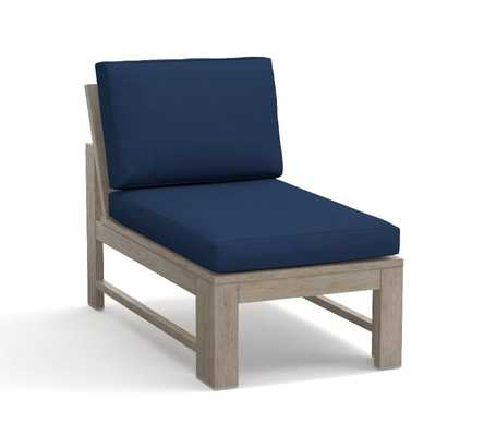 Indio Occasional Chair Cushion-Sunbrella Solid -Cobalt - Pottery Barn
