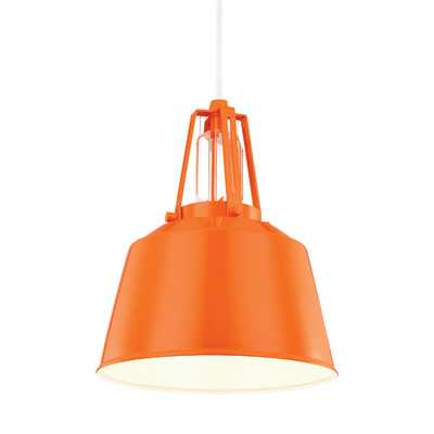 Wally 1 Light Mini Pendant - Hi Gloss Orange - Wayfair