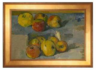 """Cézanne, Still Life with Apples - 28"""" x 20"""" - framed - One Kings Lane"""