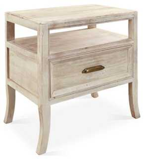 Francesca Nightstand, White - One Kings Lane