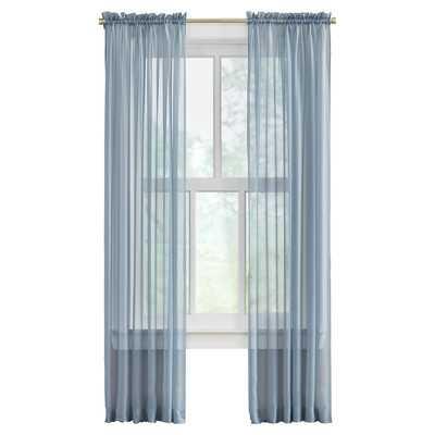 "Joulon Curtain Panel - Set of 2 - Slate Blue - 118"" H x 84"" W - Wayfair"
