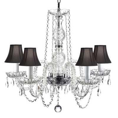 Venetian Style All Crystal 5 Light Chandelier - Overstock