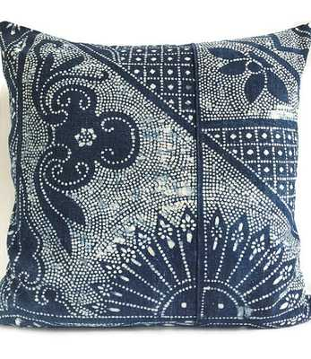 "Chinese Batik Pillow Cover  - 23"" x 23"" - Insert Sold Separately - Etsy"