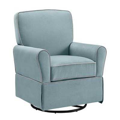 Baby Relax Milan Aqua Blue Swivel Glider - Overstock