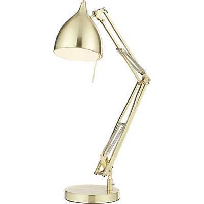 carpenter brass table lamp - CB2