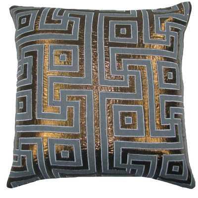 Key Lurex Throw Pillow - Gray/Copper, 20x20, With Insert - Wayfair