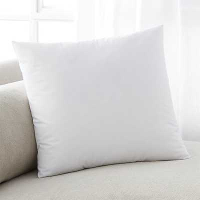 "Down-Alternative Pillow Insert - 18"" sq. - Crate and Barrel"