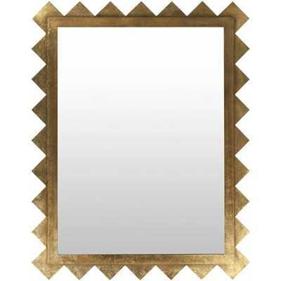 Geometric Gold Beveled Mirror - shadesoflight.com