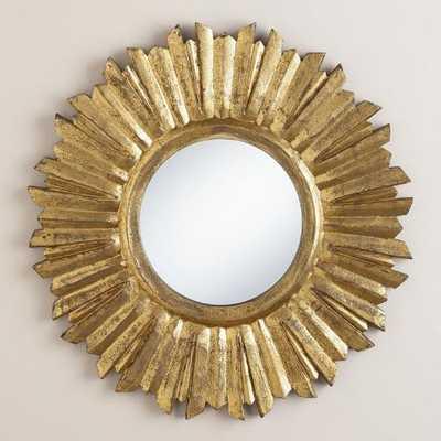 Small Antique Gold Leila Sunburst Mirror - World Market/Cost Plus