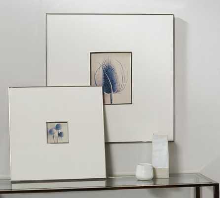 "Gray Linen & Silver Frames - 4 X 4"" - White - Pottery Barn"
