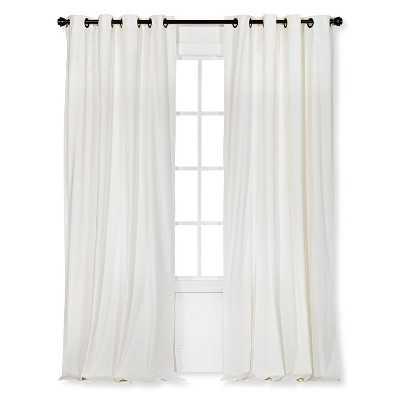 "Velvet Curtain Panel - Cream - 54x95"" - Target"