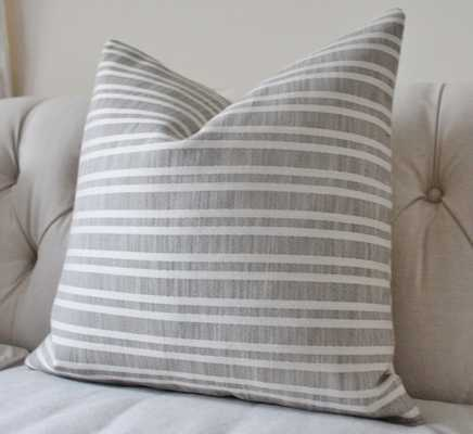 Grey Indoor Pillow Cover - 20x20 insert sold separately - Etsy