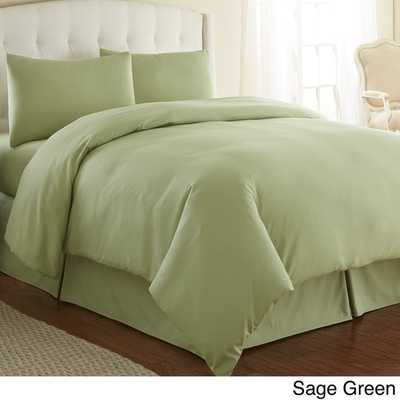 Southshore Fine Linens Oversized 3-piece Duvet Cover Set, Full/Queen, Sage Green - Overstock