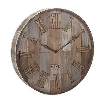 Malbec Wall Clock - Birch Lane