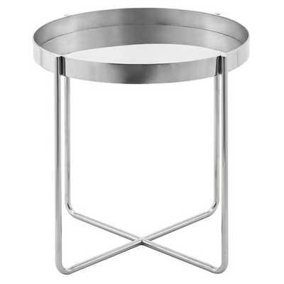 Gaultier End Table - Silver - Wayfair