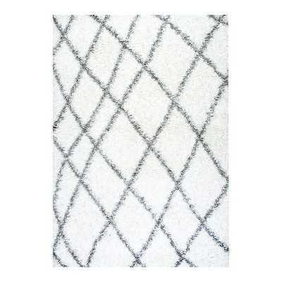 nuLOOM Alvera Easy Shag Rug - White - 8' x 10' - Target