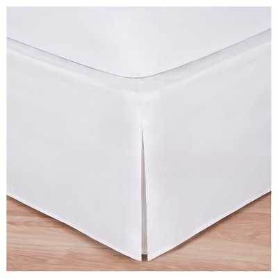 Magic Skirt Wrap-around Tailored Bed Skirt - White, Queen - Target