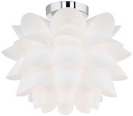 Possini Euro Design White Flower Ceiling Light - Lamps Plus