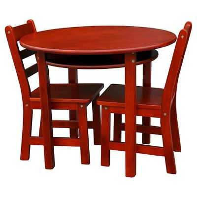 Kids' Round Table and Chair Set - Casual Home-Cherrywood - Target