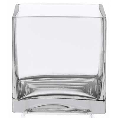 """6"""" Square Glass Vase - 6 Inch Clear Cube Centerpiece - Amazon"""