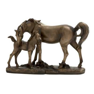 Adorable Double Horse Figurine - Wayfair