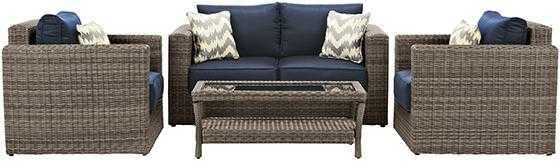 NAPLES 4-PIECE OUTDOOR DEEP SEATING SET - Home Decorators