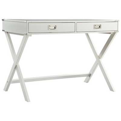 Neptune Campaign 2 Drawer Writing Desk - White - AllModern