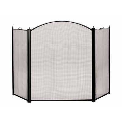 Arched 3 Panel Steel Fireplace Screen - Wayfair