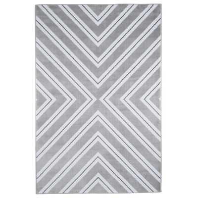 Kaleidoscope Gray & White Area Rug - Wayfair