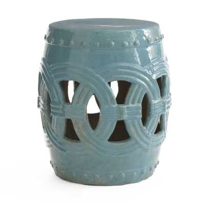 Indian Rings Stool - Cerulean - Wisteria
