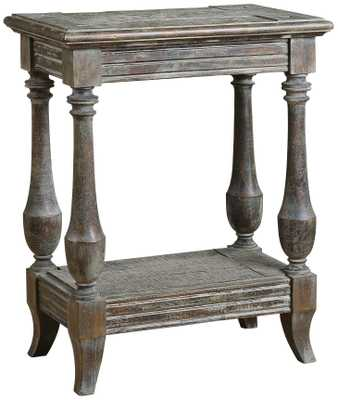 Uttermost Mardonio Distressed Side Table - Lamps Plus