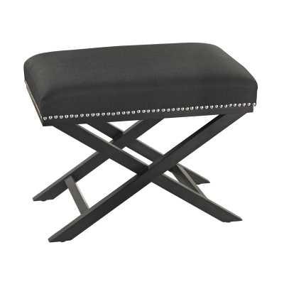 Black Cross Leg bench - Rosen Studio