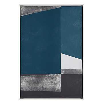 Structured Cerulean - 25.5''W x 37.5''H - framed - Z Gallerie