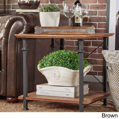 TRIBECCA HOME Myra Vintage Industrial Modern Rustic End Table - Overstock