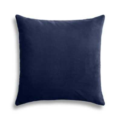 "SIMPLE THROW PILLOW -20"" x 20""- Navy- Down Insert - Loom Decor"