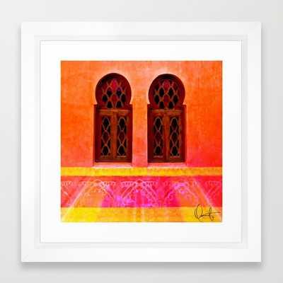 """FRAMED ART PRINT/ VECTOR WHITE MINI (12"""" X 12"""") - Society6"""