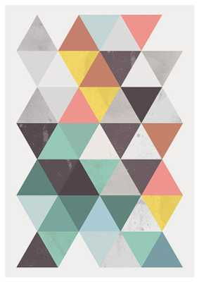 """Colorful triangle print - 11"""" x 14"""" - Unframed - Etsy"""