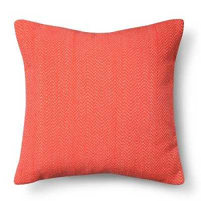 """Stitch Solid Pillow - Coral - 18"""" x 18"""" - Polyester fill - Target"""