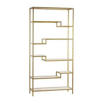 Gold and Glass Bookshelf - mintwoodhome.com